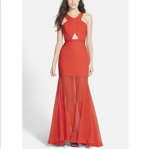 BCBGMaxAzria Red Cutout Dress